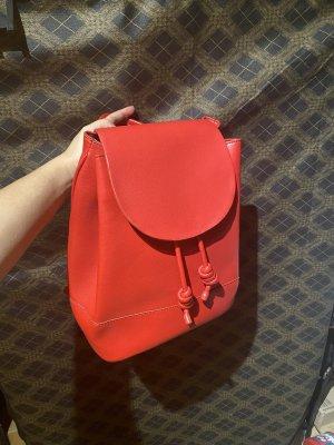 Zara Sac à dos pour ordinateur portable rouge