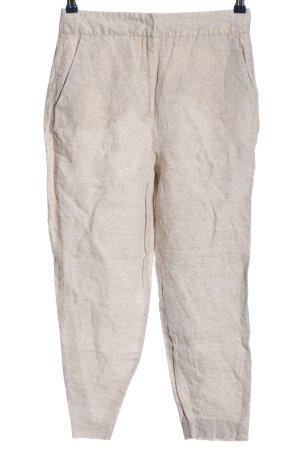Zara Luźne spodnie w kolorze białej wełny W stylu casual