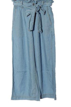 Zara Luźne spodnie niebieski W stylu casual