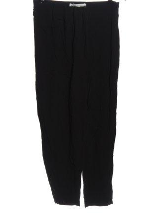 Zara Luźne spodnie czarny W stylu casual