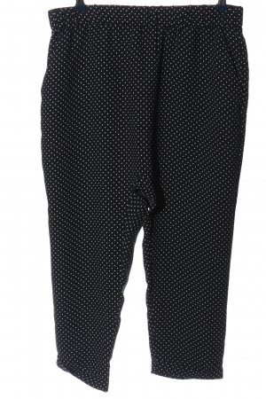 Zara Baggy Pants schwarz-weiß Punktemuster Casual-Look