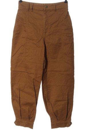 Zara Baggy Pants braun Casual-Look