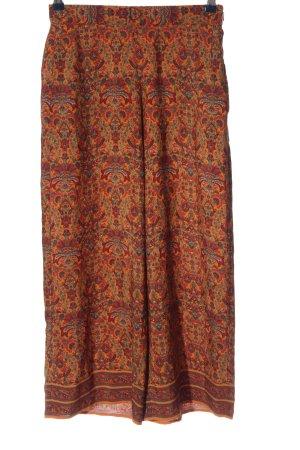 Zara Baggy broek licht Oranje volledige print casual uitstraling