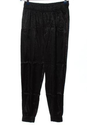 Zara Baggy Pants black wet-look