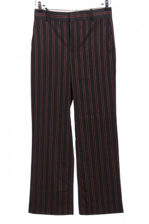 Zara Baggy Pants schwarz-rot Streifenmuster Business-Look
