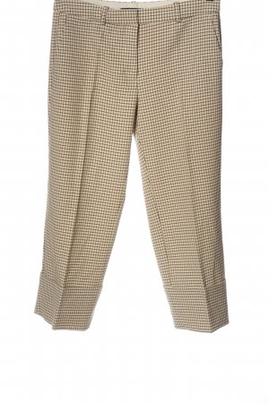 Zara Baggy Pants cream-brown allover print casual look