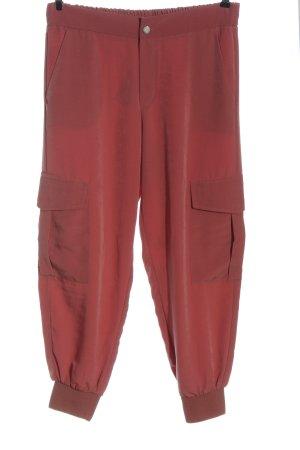Zara Luźne spodnie czerwony W stylu casual