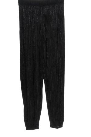 Zara Baggy Pants schwarz Streifenmuster Casual-Look