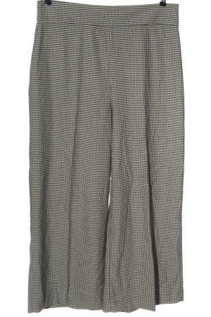Zara Baggy Pants schwarz-weiß Webmuster Casual-Look