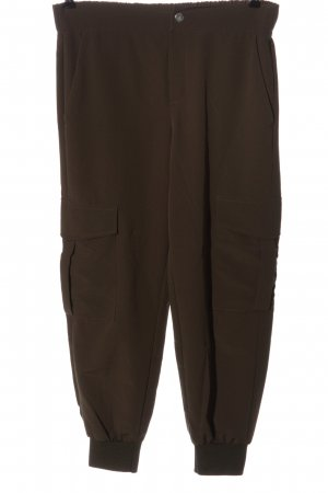Zara Pantalone largo marrone stile casual