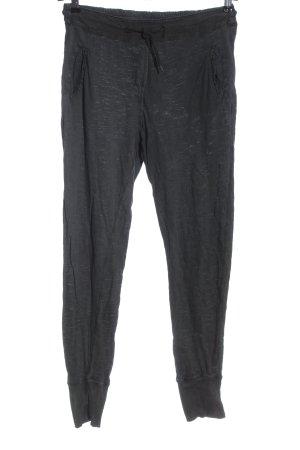 Zara Baggy Pants black flecked casual look