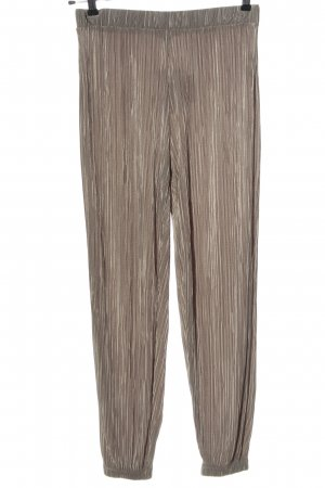 Zara Baggy Pants bronze-colored striped pattern casual look