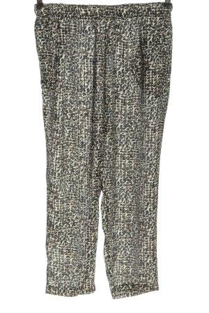 Zara Baggy Pants abstract pattern casual look