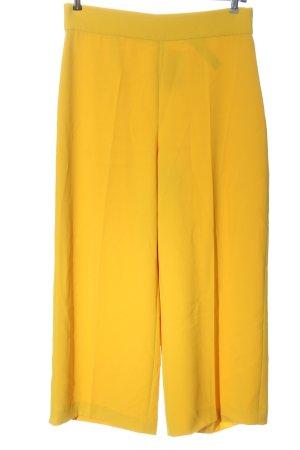 Zara Baggy Pants blassgelb-wollweiß Elegant