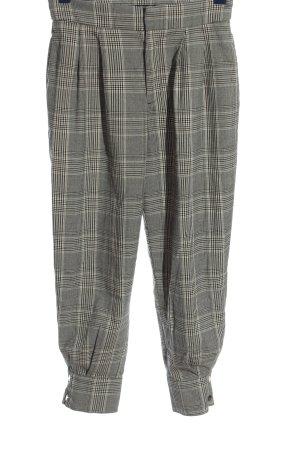 Zara Baggy Pants light grey-black check pattern business style