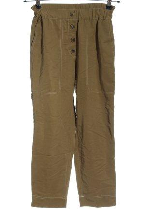 Zara Luźne spodnie brązowy-khaki W stylu casual