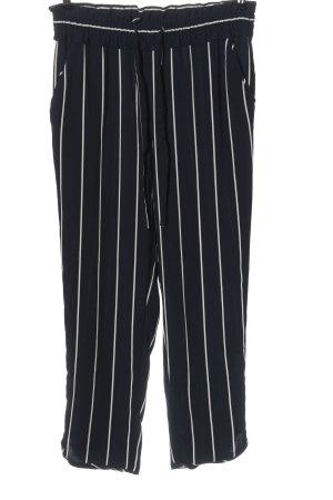 Zara Baggy Pants blau-weiß Allover-Druck Casual-Look
