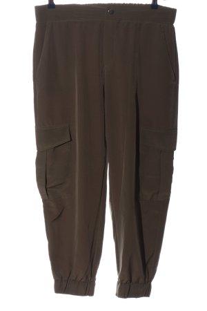 Zara Pantalón abombado marrón look casual
