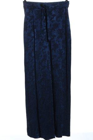 Zara Baggy Pants blue allover print elegant
