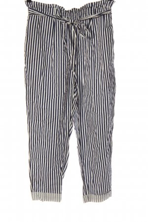 Zara Baggy Pants blue-white striped pattern casual look