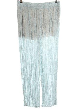 Zara Pantalon «Baggy» turquoise-blanc imprimé allover style décontracté
