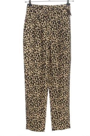 Zara Baggy Pants Animalmuster Casual-Look