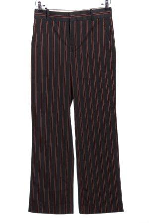 Zara Baggy Pants schwarz-rot Streifenmuster Business-Look
