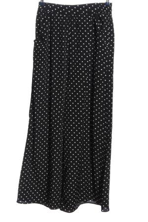 Zara Baggy Pants black-white spot pattern casual look