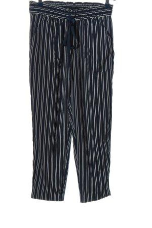 Zara Baggy Pants schwarz-weiß Streifenmuster Casual-Look