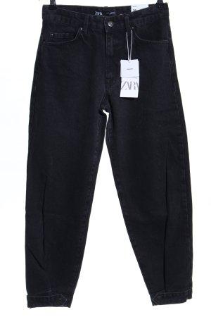 Zara Baggy jeans zwart casual uitstraling