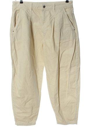 Zara Workowate jeansy w kolorze białej wełny W stylu casual