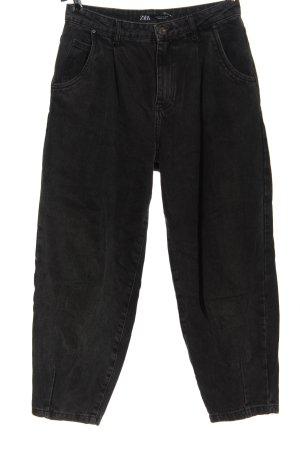 Zara Vaquero holgados negro look casual