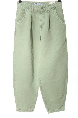 Zara Baggy jeans khaki casual uitstraling