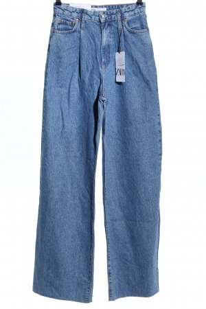 Zara Baggy jeans blauw casual uitstraling