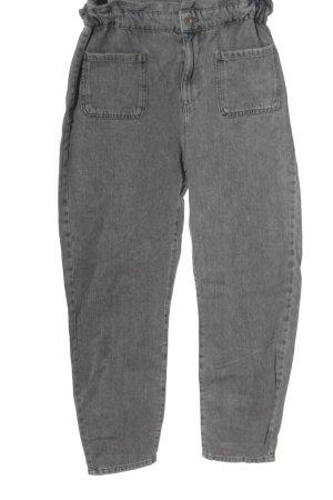 Zara Workowate jeansy jasnoszary W stylu casual