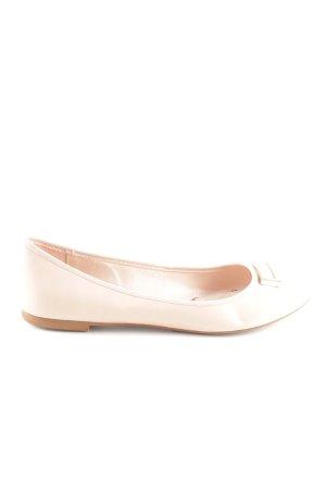Zara Ballerinas mit Spitze creme Casual-Look