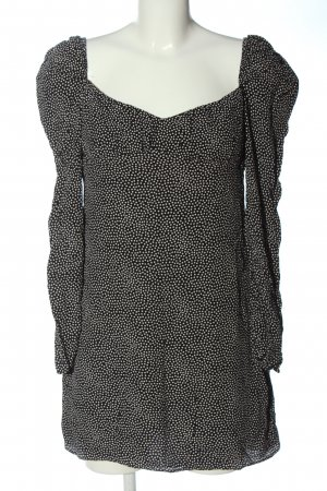 Zara Blusenkleid schwarz-weiß Punktemuster Casual-Look