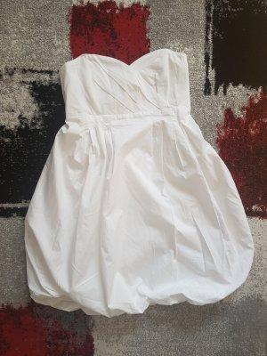 Zara Sukienka z rękawem balonowym biały