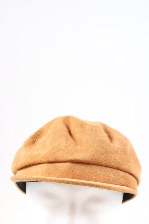 Zara Cappello da panettiere arancione chiaro stile casual