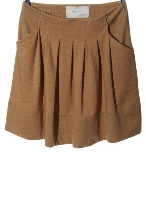 Zara Falda globo marrón moteado look casual