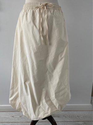 Zara Balonowa spódniczka w kolorze białej wełny
