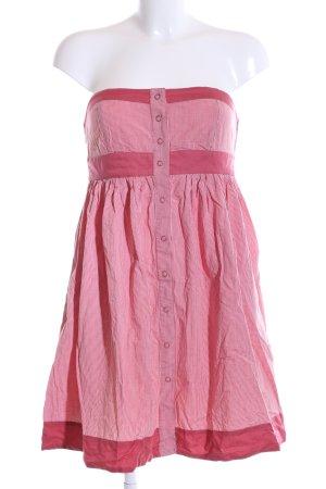 Zara Bandeaukleid pink Karomuster Casual-Look