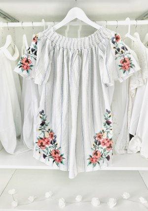 Zara Sukienka z dekoltem typu bandeau Wielokolorowy