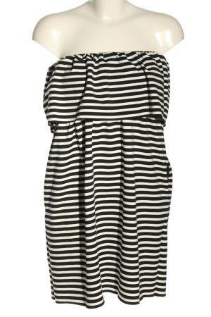 Zara Abito a fascia nero-bianco sporco stampa integrale stile casual