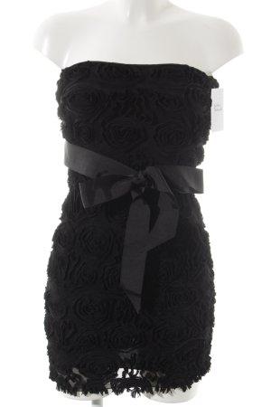 Zara Bandeaukleid schwarz Blumenmuster Elegant