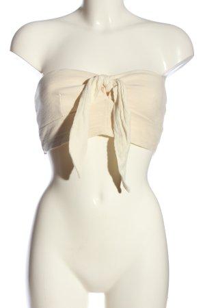 Zara Top a fascia crema elegante