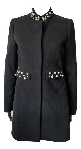 Zara Basic Cappotto in pile nero