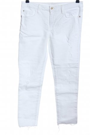 Zara Basic 3/4 Length Jeans white casual look
