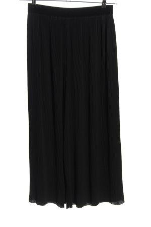 Zara Basic Spodnie 7/8 czarny W stylu casual