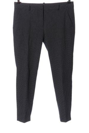 Zara Basic 7/8-Hose schwarz-weiß Punktemuster Casual-Look